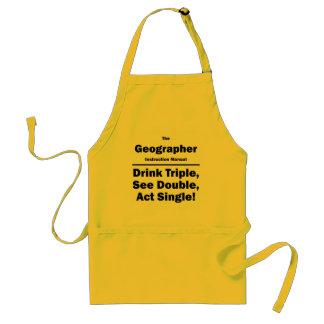 geographer adult apron