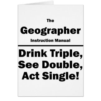 geographer card