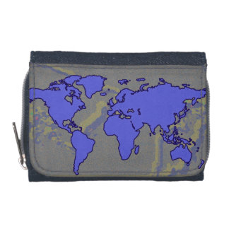 geographic world map wallets