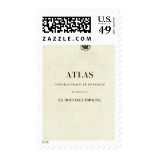 Geographical and Physical Half Title Atlas Stamp