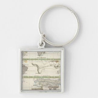 Geographical Distribution Keychain