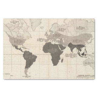 Geographical Distribution of Vegetation Tissue Paper