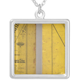 Geographical Map Silver Plated Necklace