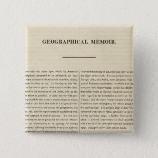 Geographical Memoir 4 Button