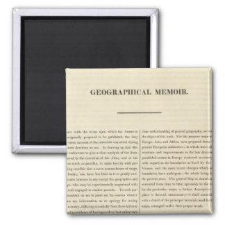 Geographical Memoir 4 Magnet