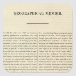 Geographical Memoir 4 Stickers
