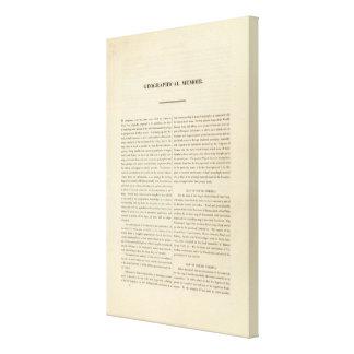 Geographical Memoir Canvas Print
