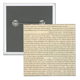 Geographical Memoir continued 4 2 Inch Square Button