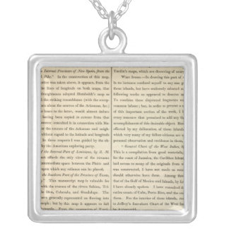 Geographical Memoir continued 4 Silver Plated Necklace