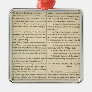 Geographical Memoir continued Metal Ornament