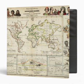 Geographical spread of the human race 3 ring binder