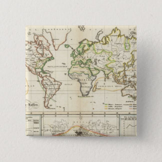Geographical spread of the human race pinback button