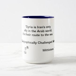 Geographically Challenged Mitt Two-Tone Coffee Mug