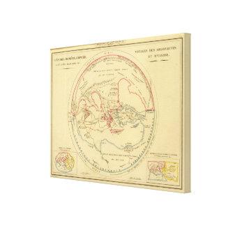 Geographie des Grecs Primitive Canvas Print