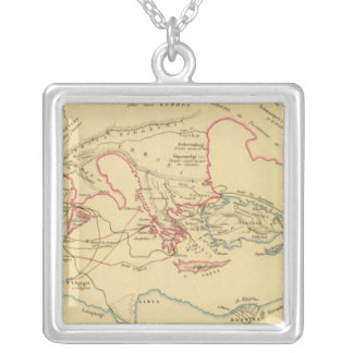Geographie des Grecs Primitive Silver Plated Necklace