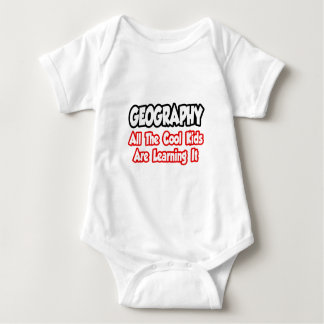 Geography...All The Cool Kids Baby Bodysuit