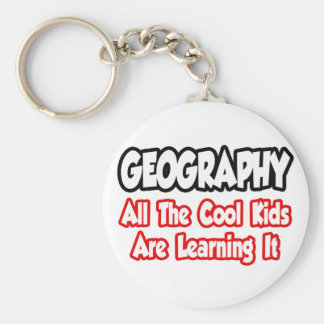 Geography...All The Cool Kids Basic Round Button Keychain