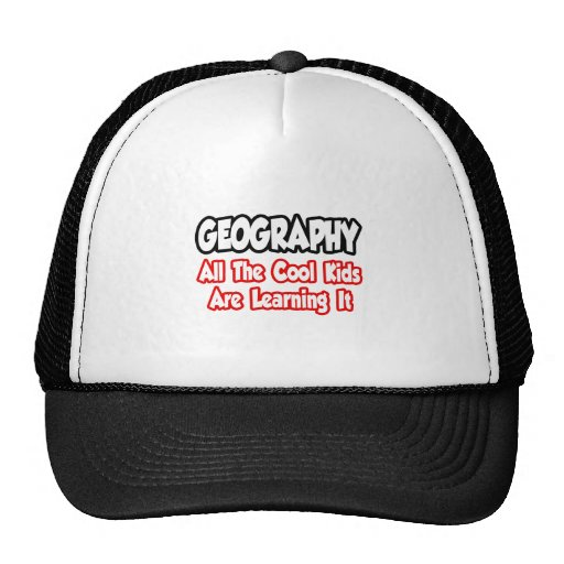 Geography...All The Cool Kids Mesh Hats