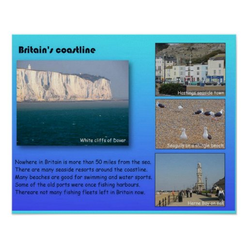 Geography, Britain's coastlines Posters