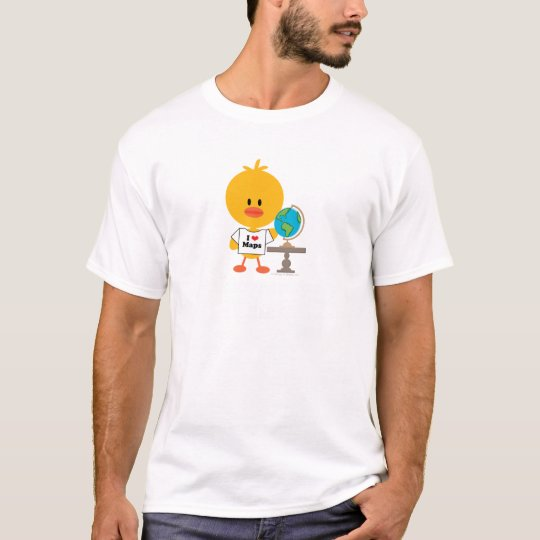 Geography Chick Kids Crew Neck Tee