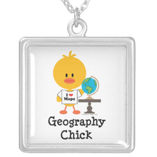 Geography Chick Necklace