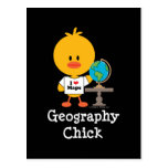 Geography Chick Postcard