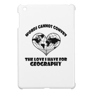 Geography designs case for the iPad mini