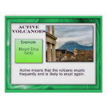 Geography, Earth Science, Active Volcanoes Print
