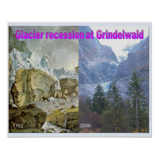 Geography,Glaciers, Recession at Grindelwald Poster