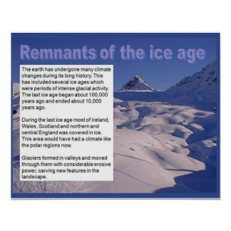 Geography,Glaciers, remnants of the Ice Age Poster