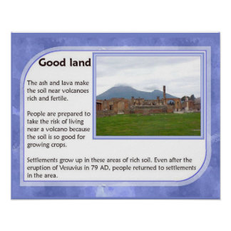 Geography, History, Volcanoes, Fertile land Poster