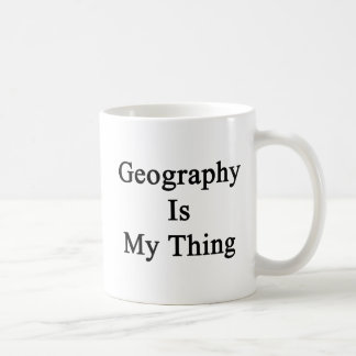 Geography Is My Thing Coffee Mugs