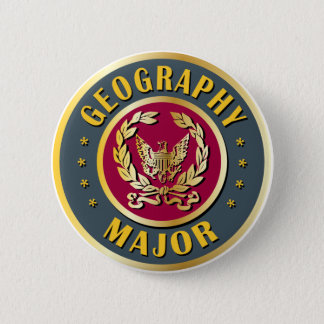Geography Major Pinback Button