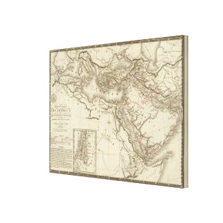 Geography of Hebrews Canvas Print