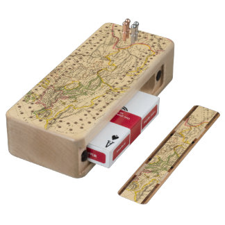 Geography of the Middle Ages Wood Cribbage Board