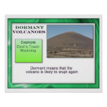 Geography, Physical dormant volcanoes Poster