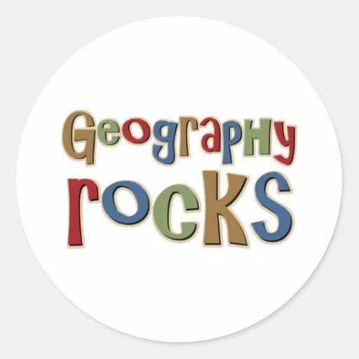 Geography Rocks Classic Round Sticker Zazzle