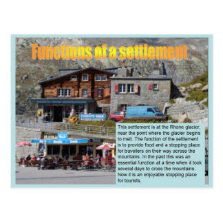 Geography, Social studies, Functions of settlement Postcard
