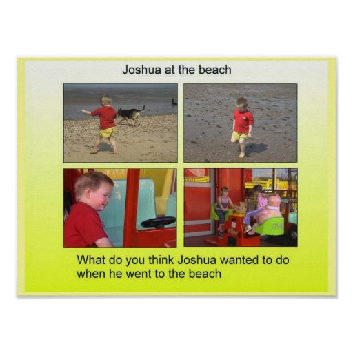 Geography, Social Studies Joshua at the beach Posters