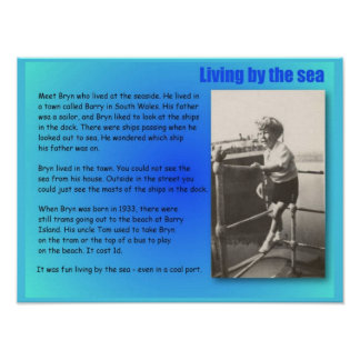 Geography, Social Studies, Living by the sea Poster