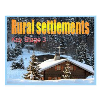 Geography, Social studies, Rural settlements Postcard