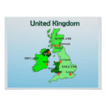 Geography, Social Studies, United Kingdom, Map Posters