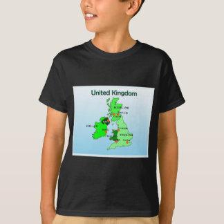 Geography, Social Studies, United Kingdom, Map T-Shirt
