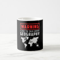 Geography Teacher Funny Map Continents World Gift Coffee Mug
