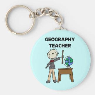 Geography Teacher Keychain