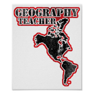 Geography Teacher Map Poster