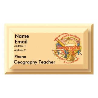 Geography Teacher Motto Business Card