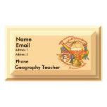 Geography Teacher Motto Business Card Templates