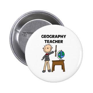 Geography Teacher Pinback Button