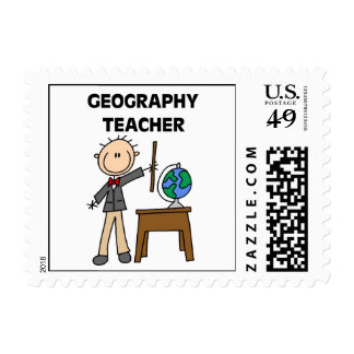 Geography Teacher Postage Stamps